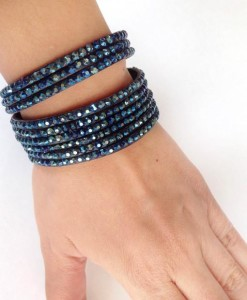 Gelang Suede Dark Blue