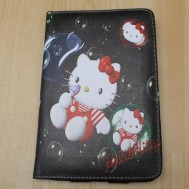 Leather Case Hello Kitty hitam