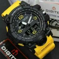 Jam Tangan Pria Digitec T2003 Rubber Kuning