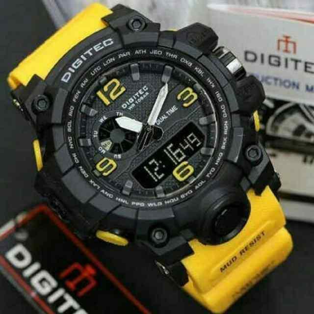 288 jam tangan pria - cowok digitec t2003 rubber kunin