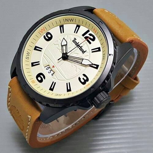 474 jam tangan pria - cowok timberland tl830 leather b