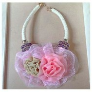 Kalung Rose Pink Lace