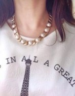 Kalung Gold Chain Pearl