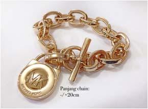 Gelang MK Padlock Gold