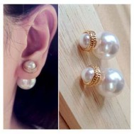 Anting Cliche Pearl Gold